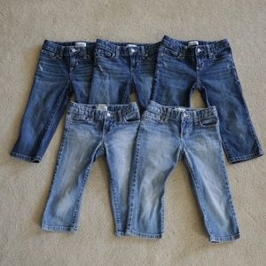 Old Navy Girl's Capri Jeans  size 6  Lot of 5